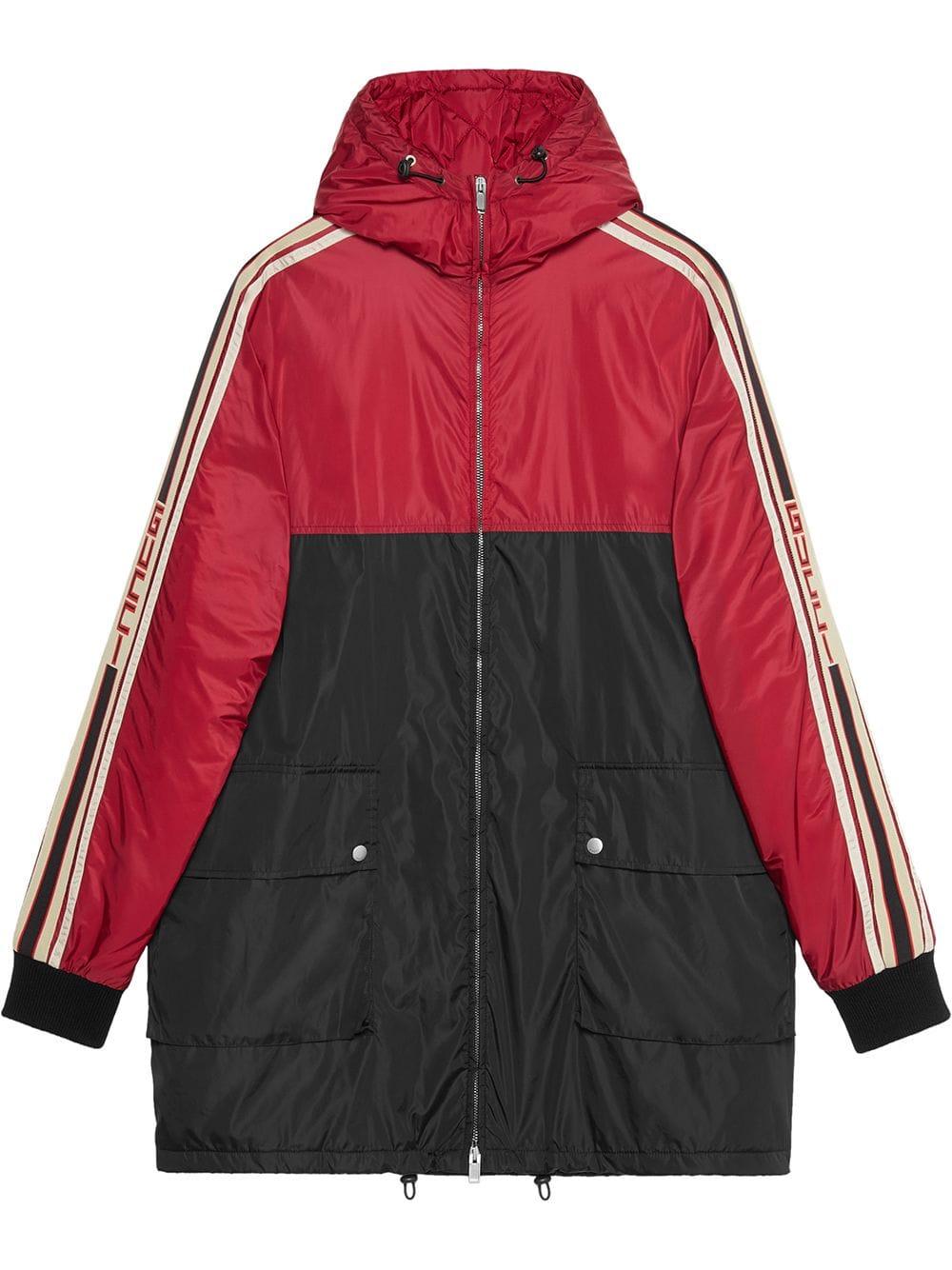 e1570c02d GUCCI GUCCI NYLON COAT WITH GUCCI STRIPE - RED. #gucci #cloth ...