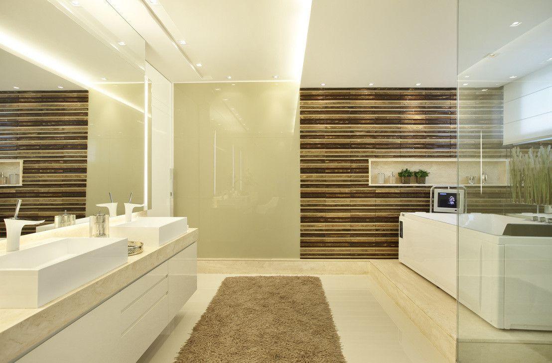 Banheiro do casal : Banheiros modernos por Arquitetura e Interior