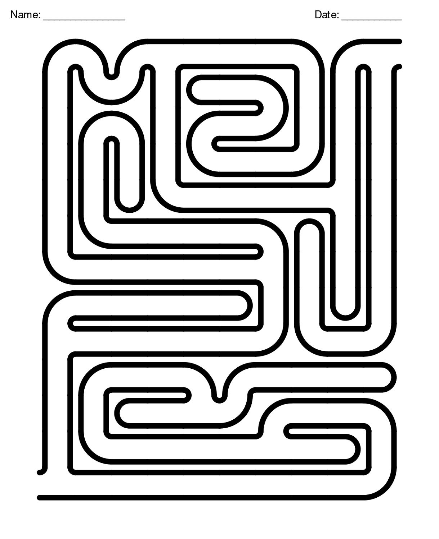Free Maze Worksheets For Children
