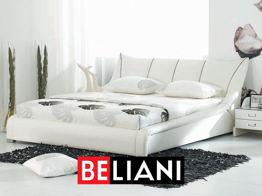Wasserbett Leder Weiss 140 X 200 Cm Nantes In 2020 White Leather