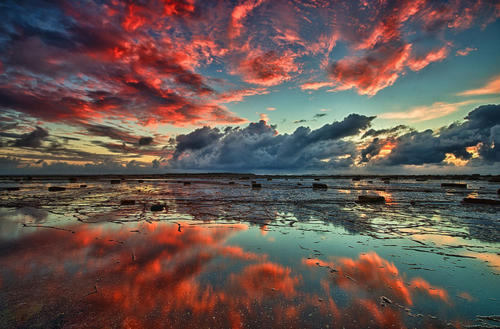 Red Cloud Reflection Sky Red Water Nature Clouds Cool Amazing Beautiful Nature Nature Wallpaper Nature