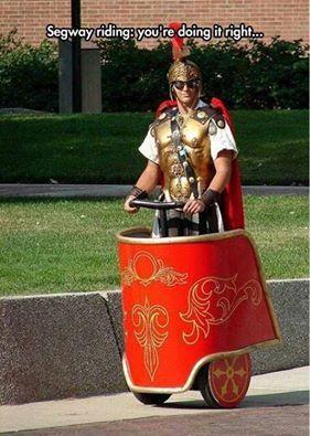 Roman around.