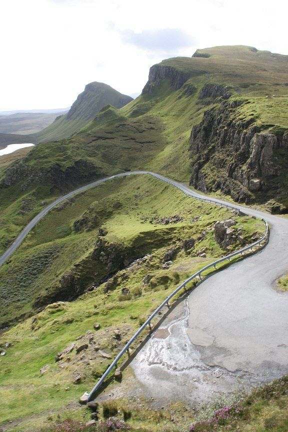 The road known as the Pass of Cattle, (Bealach na Bà) Applecross peninsula, in Wester Ross,  Scottish Highlands.