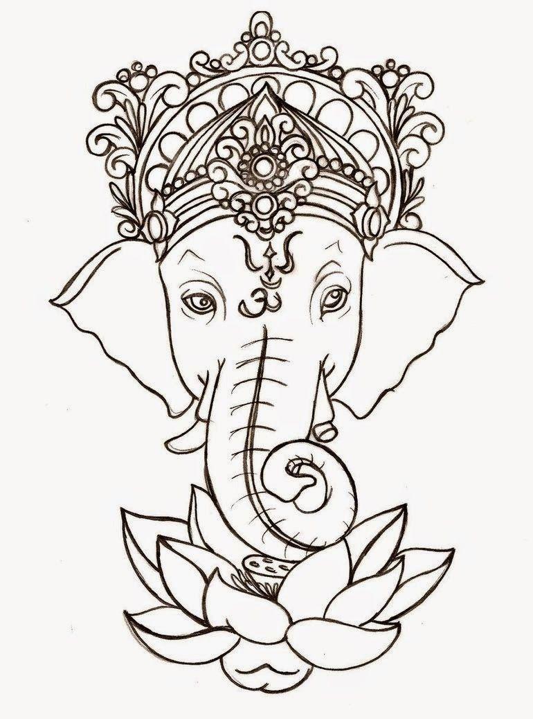 ganesha dibujo - Google Search | Tattoossss | Pinterest | Ganesh ...