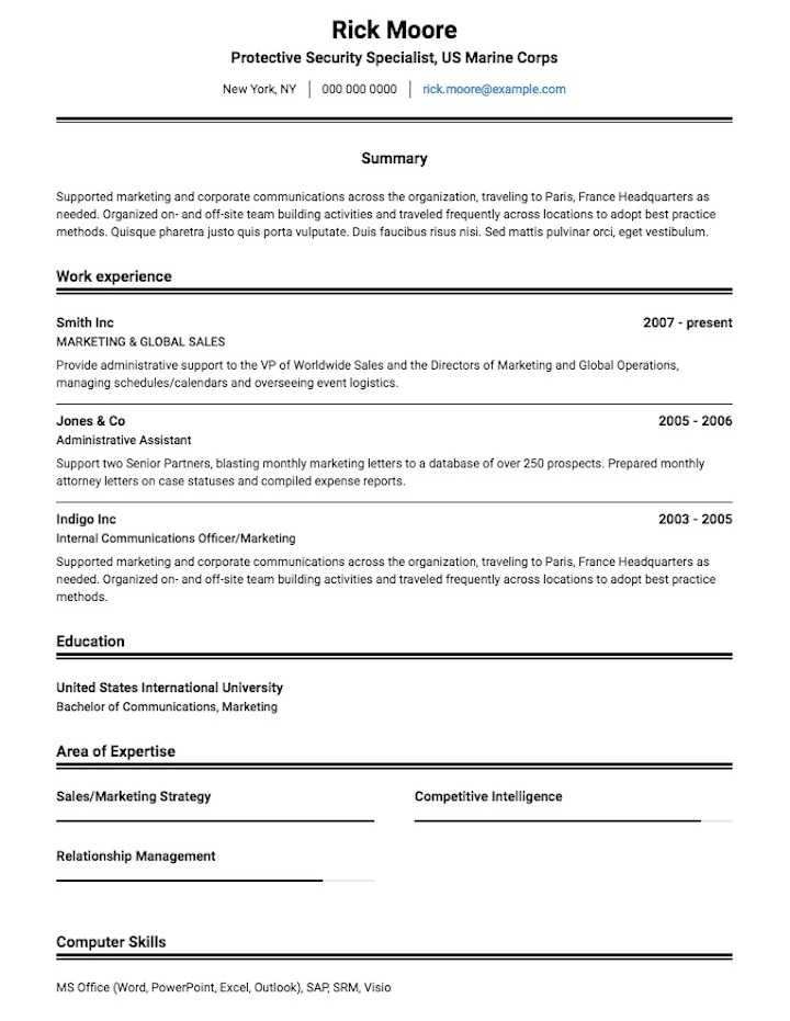 Resume Templates Ats (1 di 2020