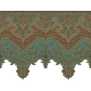 The Wallpaper Company 8 In X 10 In Agean Paisley Border Sample Wc1282274s At The Home Depot Victorian Wallpaper Wallpaper Companies Wallpaper Border