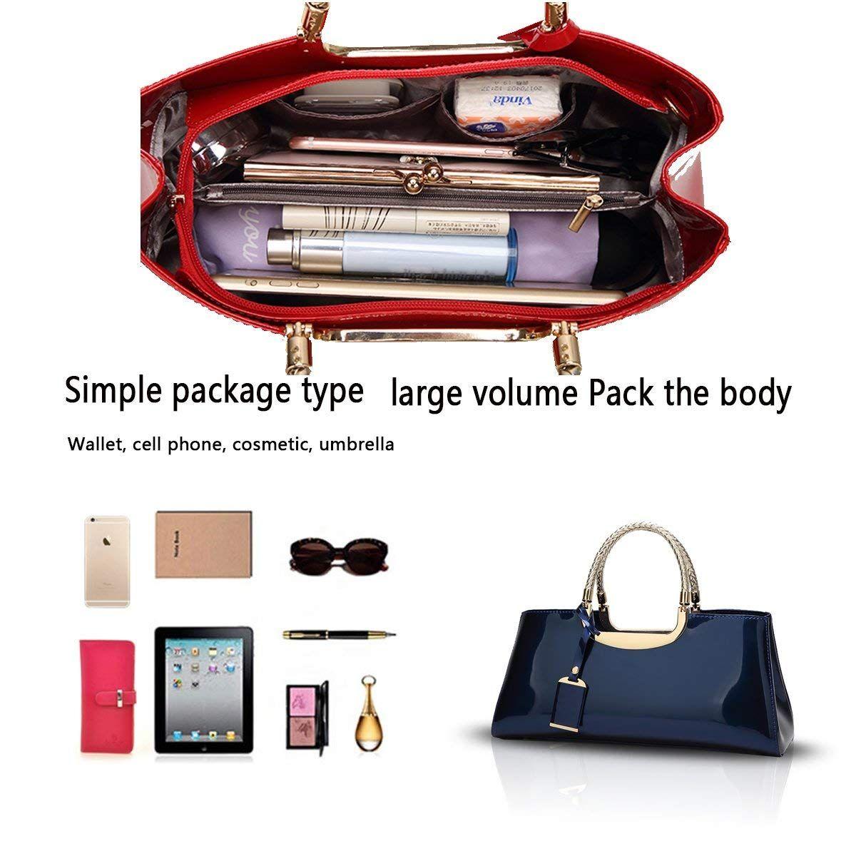 565a31e2509c70 Tisdaini 2018 Ladies Handbag Fashion Patent Leather Glossy Casual Shoulder  Messenger Bag Wallet Ladies Atmosphere Wild