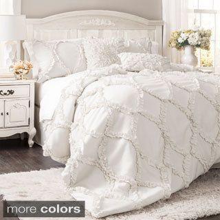 lushdecor belle king sets white piece cal decor pc set com comforter lush products
