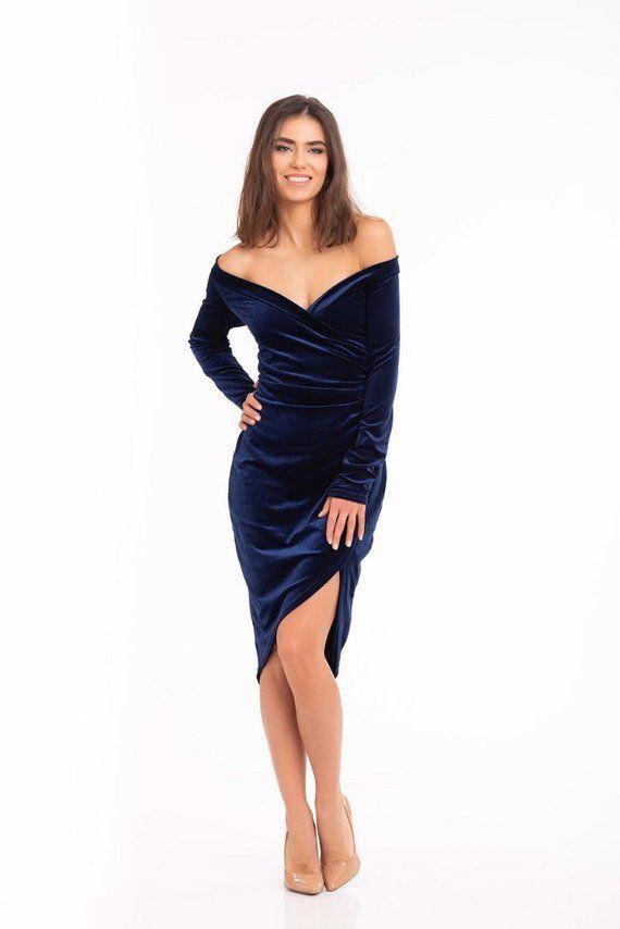 Navy Blue Cocktail Dress,Velvet dress,80s prom dress,Ladies Dress,40s dress, Bodycon dress,Belle Dress,Slit shortDress,short navy dress,#105 #navyblueshortdress Navy Blue Cocktail DressVelvet dress80s prom dressLadies | Etsy #navyblueshortdress