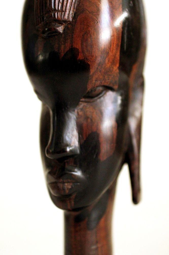 African carved dark wood sculpture head bust ebay finds