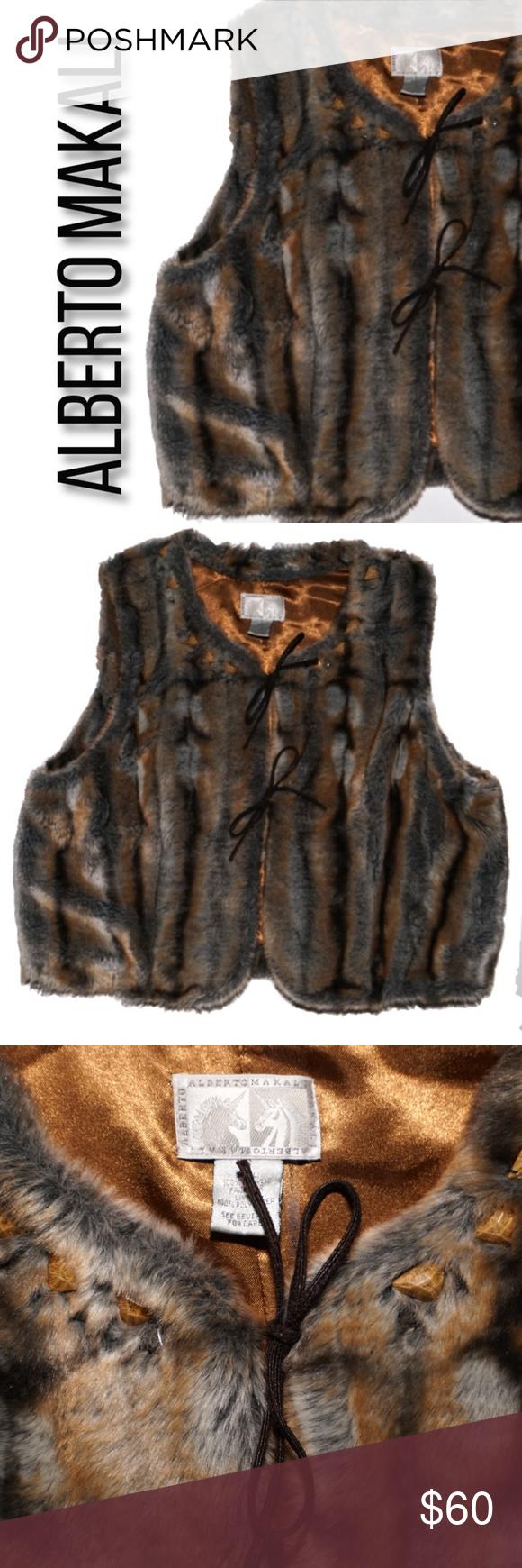 Alberto makali faux fur vest s alberto makali faux fur vest s