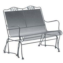 Brentwood High Back Gliding Love Seat Wrought Iron Patio