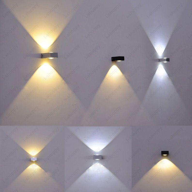 Wall Sconces Living Room up/down 3w/6w led cob wall sconce light high power dimmable/n lamp