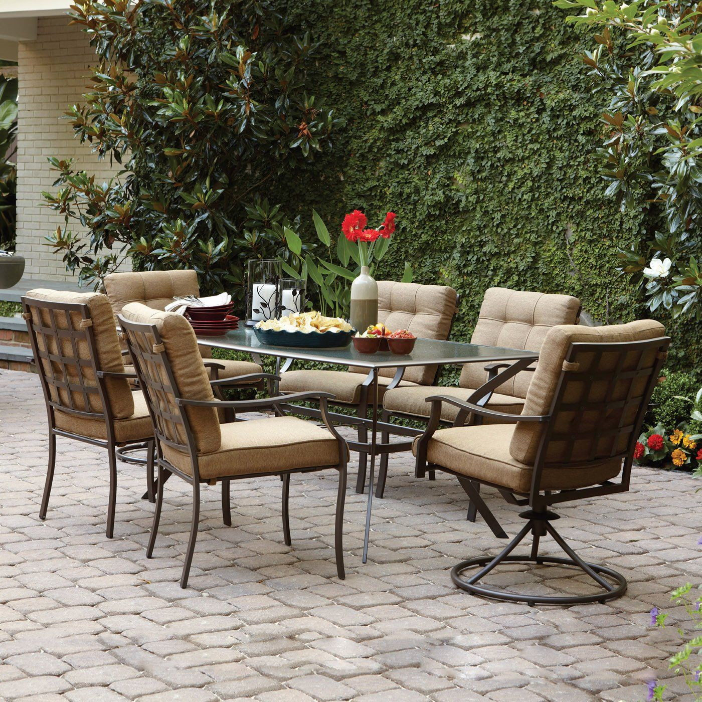 Garden Treasures Eastmoreland Brown 7 Piece Outdoor Dining Set