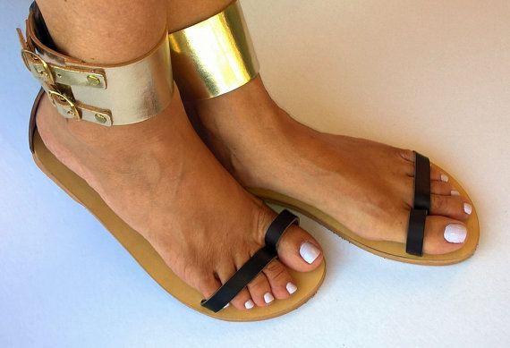 leather sandalselegant greek sandalswomens by chicbelledejour