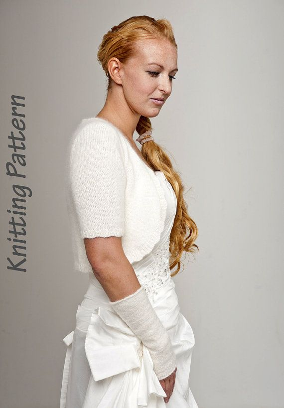 Knitting Pattern Angora Jackett Short Sleeve Knit By Weddingbolero
