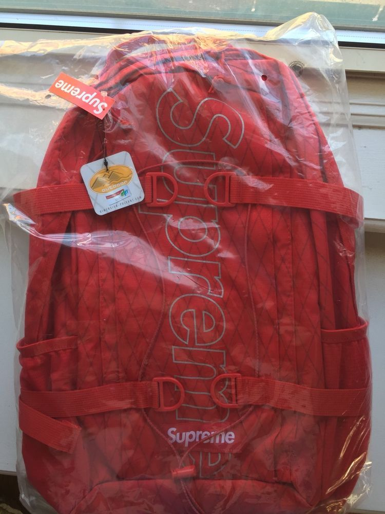 0d35ac62c737 Supreme FW18 Backpack RED 100% Authentic ( only 20 dollars more than retail  )  fashion  clothing  shoes  accessories  mensaccessories  bags  ad (ebay  link)