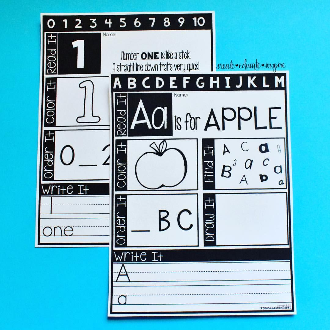 These Pages Are Great Practice For Abc S And 123 S 6