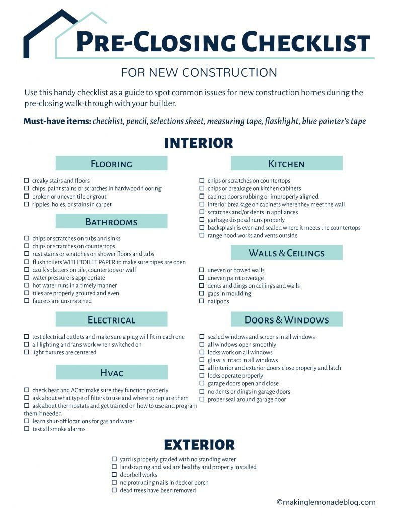 Building A House Grab This Free Checklist Home Buying Checklist