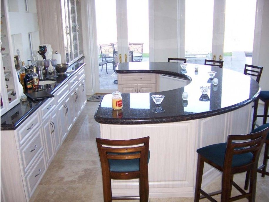 images round kitchen islands | Kitchen Designs: Unique Round Kitchen Island  Black Marble Countertops .
