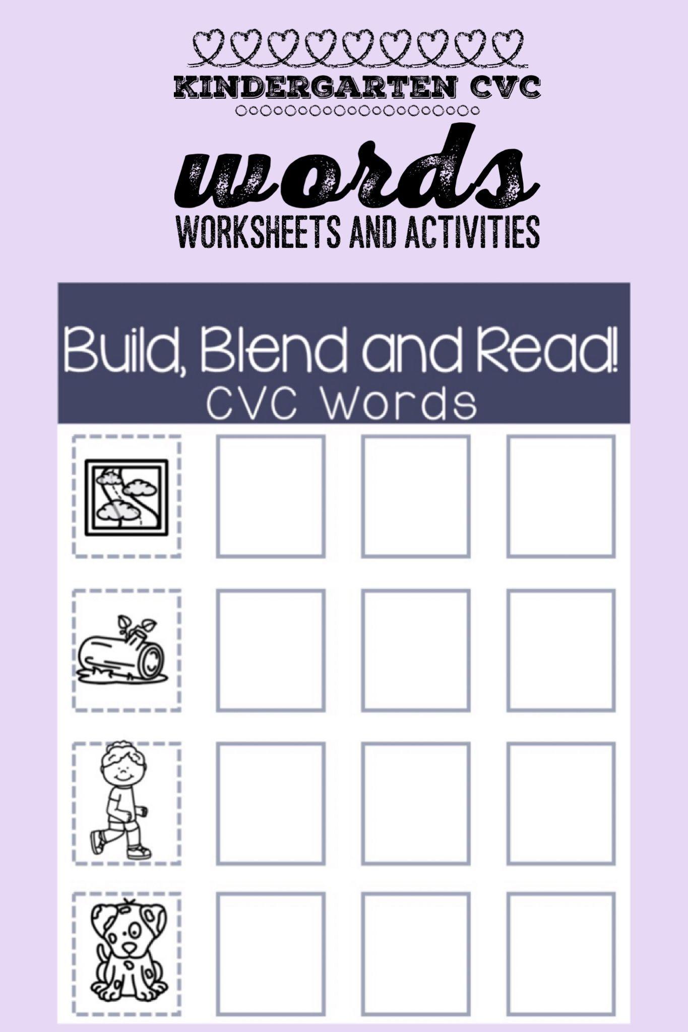 Kindergarten Printable Worksheets And Activities To Practice Cvc Word Blending And Segmenting These Skil Cvc Words Cvc Words Worksheets Word Family Activities [ 2048 x 1365 Pixel ]