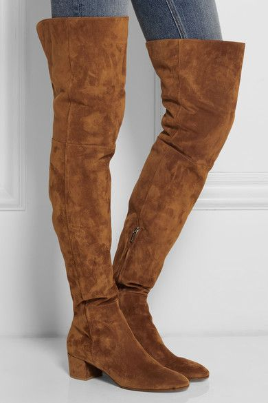 Gianvito RossiTexa Over-The-Knee Suede Boots gnm4r65wN