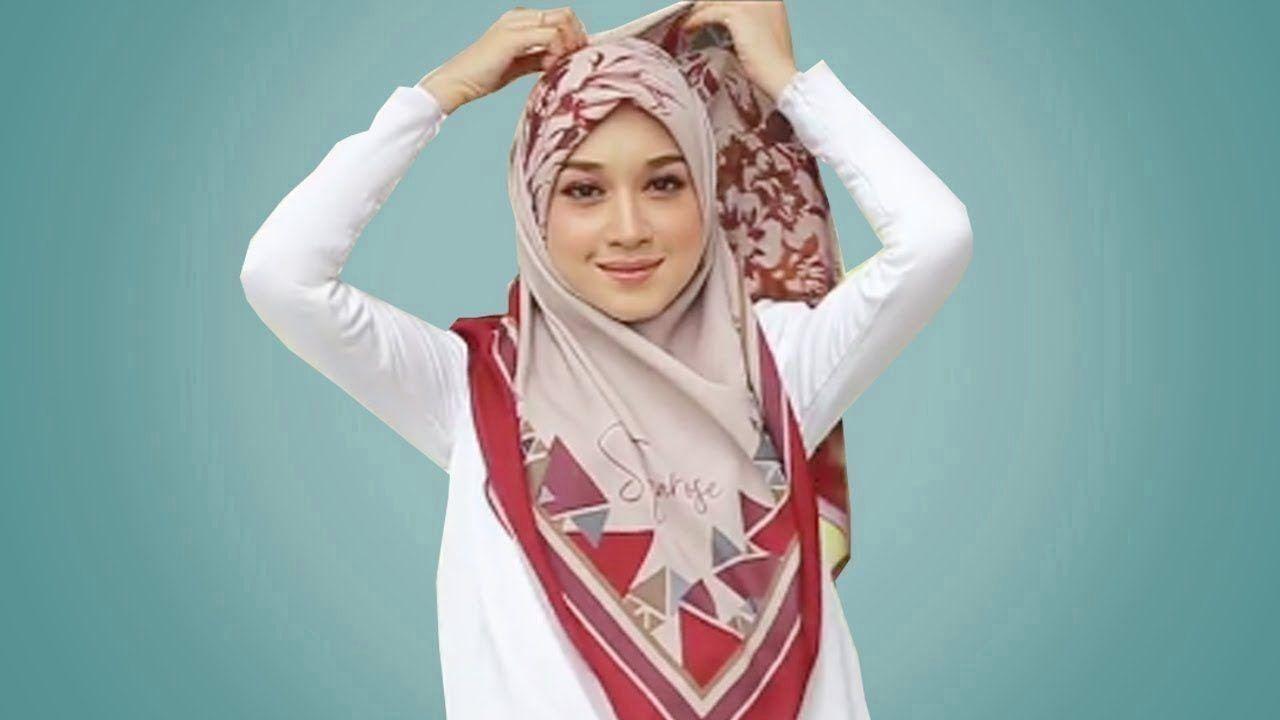 17 Tutorial Hijab Segi Empat Hijab Pashmina Simple Cantik Tapi Kekinian 1000 1000 Modern 1000 Hijab Tutorial Simple Style Outfits Cara Hijab