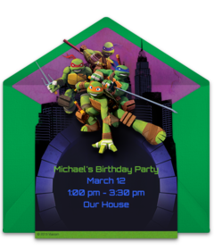 Ninja Turtles Take A Look At This Collection Of Free TMNT Party Invitations We Love Colorful