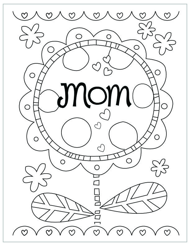 Free Printable Mother S Day Coloring Pages Mothers Day Coloring