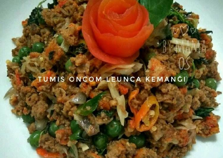 Resep Tumis Oncom Leunca Kemangi Food Grains Rice