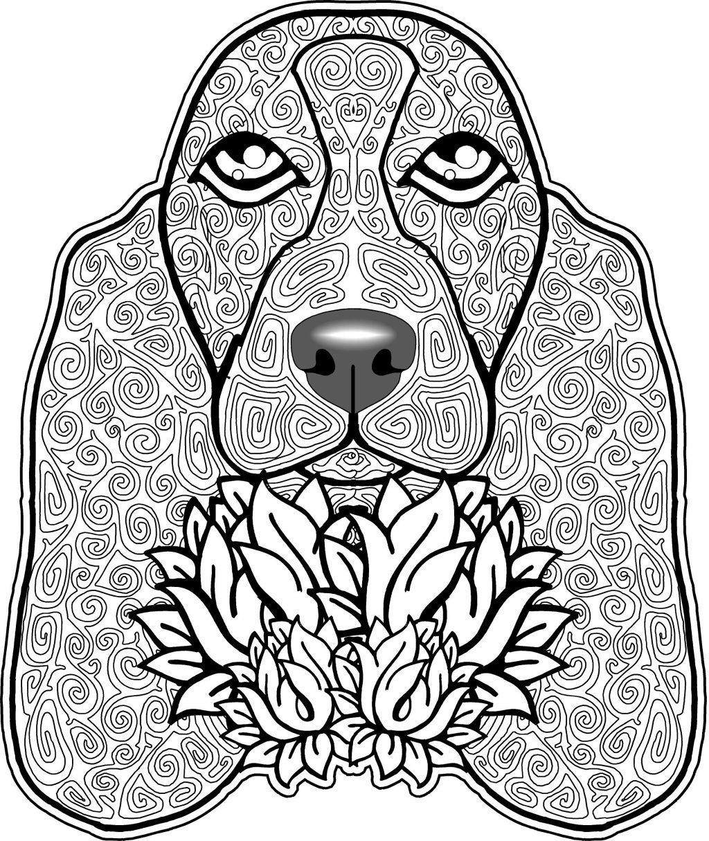 27 Wonderful Image Of Dog Coloring Pages For Adults Dog