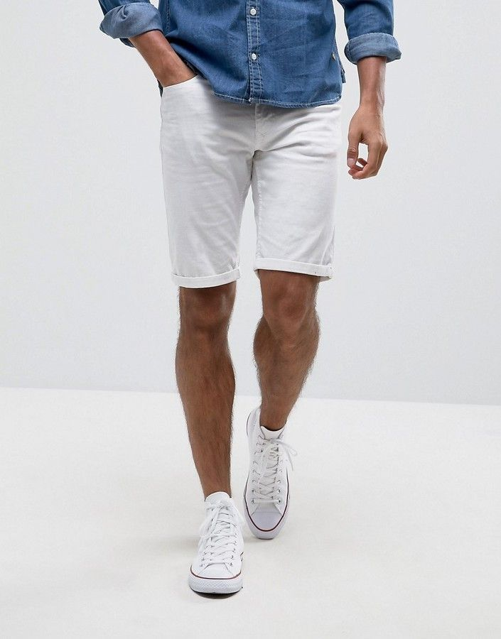 e28a08373e Blend of America Denim Short White | Man Men Boy Guy Male in 2019 ...