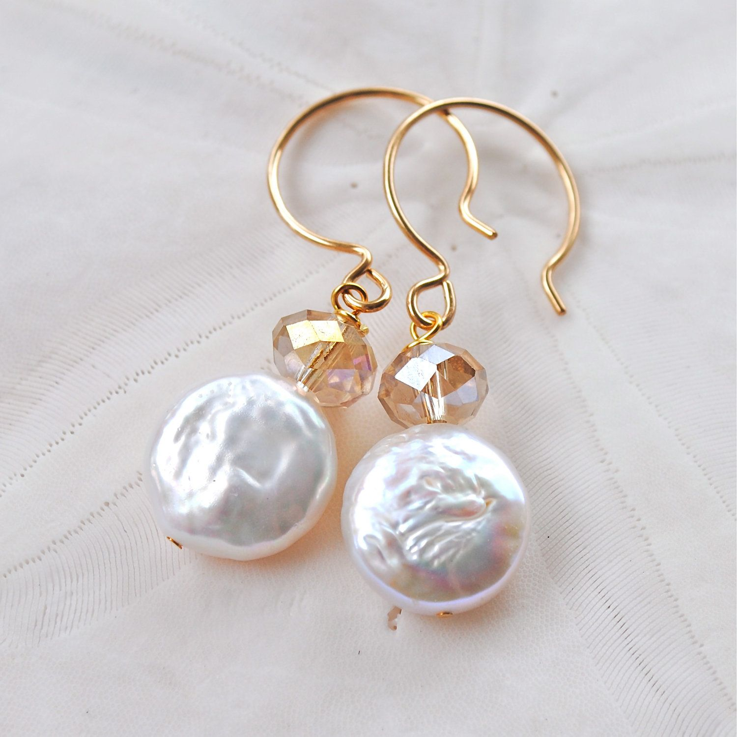 Oyster white ivory. Fresh Water Pearl by laurenamosdesigns, $20.00 ...