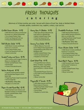 Customize Box Lunch Catering Menu Lunch Catering Catering Menu Catering Menu Design