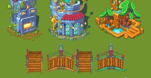 Pixel Art City Buildings Part 1 Fgfactory