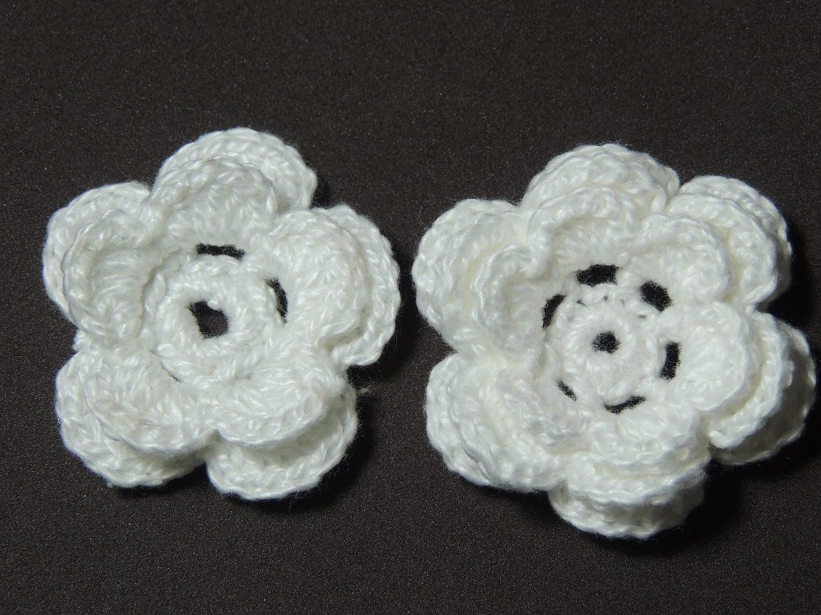 Flores de crochê - Flor de crochê Básica Modelo 2 (Canhotas ...