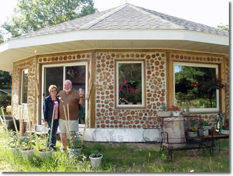 Cordwood Home, using shorter log sections, you can use various ...
