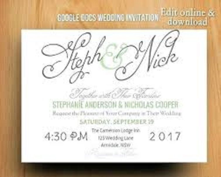 Party Invitation Template Google Docs Wedding Templates Modern Invitations Cards