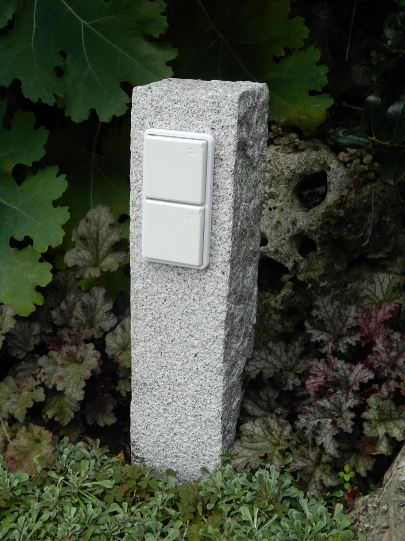 Turbo Gartensteckdose, garden socket genuine granite | Участок YF61