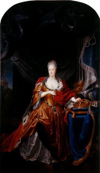 Maler Bayreuth königin christiane eberhardine polen 1671 1727 silvestre
