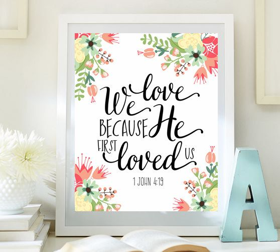 We Loved Us Love First He Verse Because Bible
