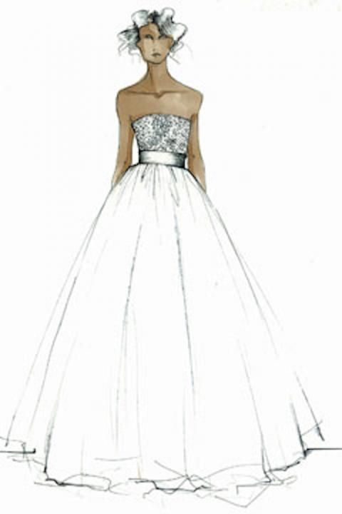 Simple Dresses Designs Sketches Wedding Gown Sketches
