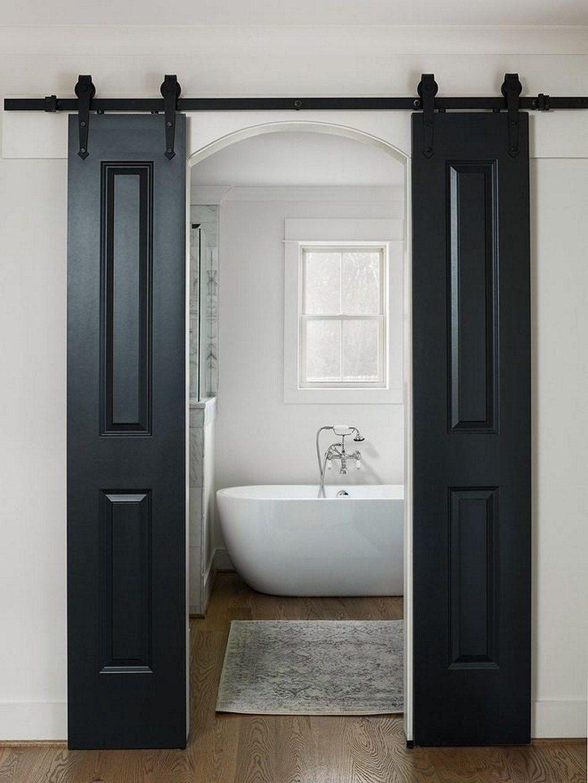 Barn Door Inspiration 19 Amazingly Creative Ideas 15 Modern Farmhouse Bathroom Farmhouse Master Bathroom Bathroom Remodel Master