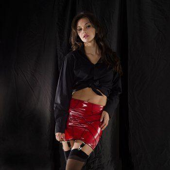 a82d3c87312c1 Stockings HQ liquid vinyl 4-way stretch 6-strap girdle | Suspender ...