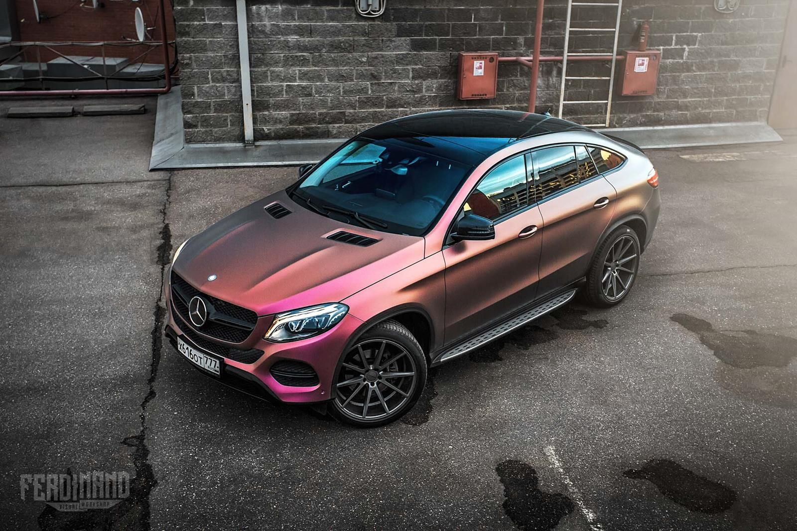 MercedesBenz GLE Coupe Receives a Unique Wrap