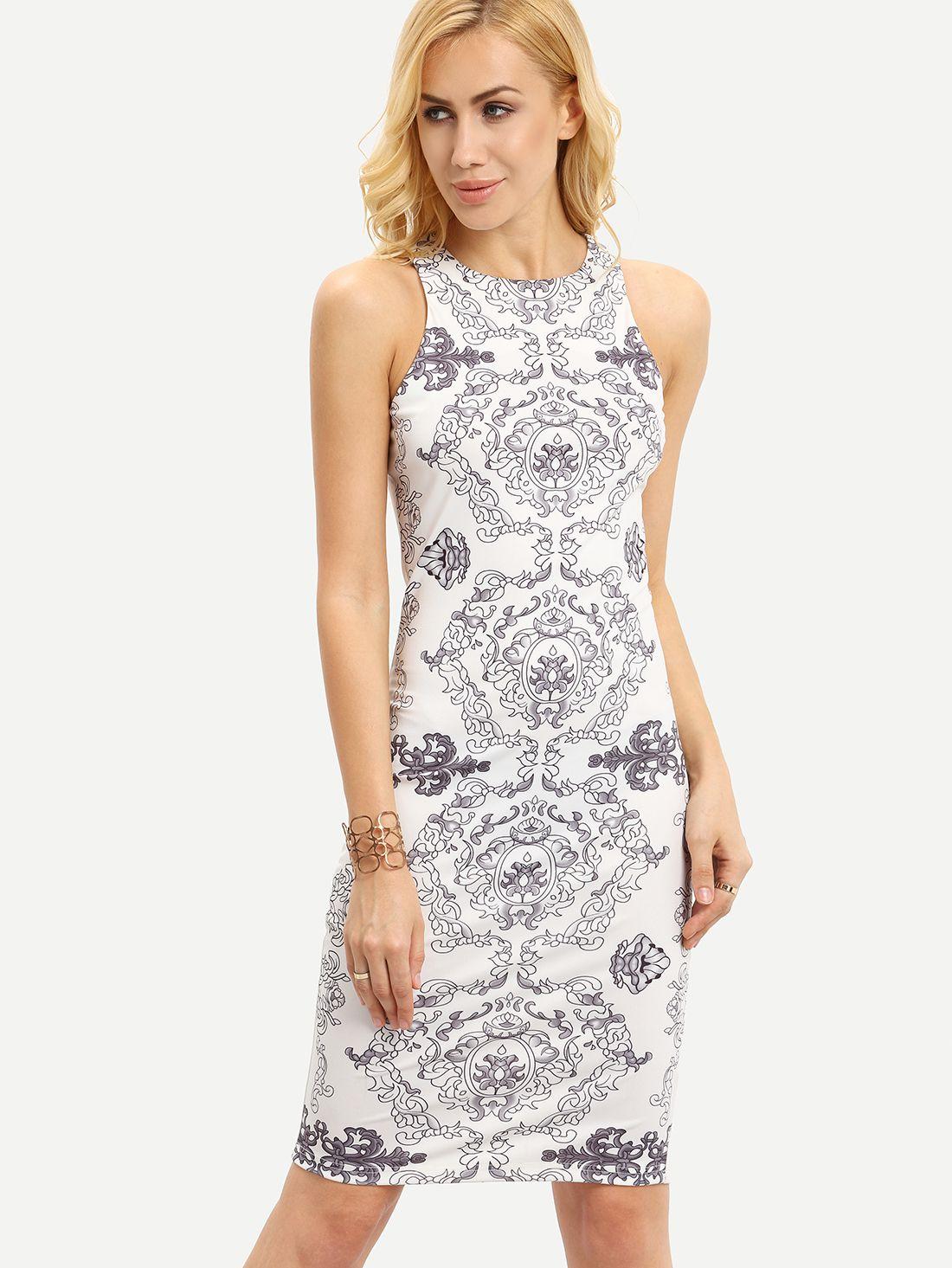 Shop White Sleeveless Tribal Print Sheath Dress online. SheIn offers White Sleeveless Tribal Print Sheath Dress & more to fit your fashionable needs.