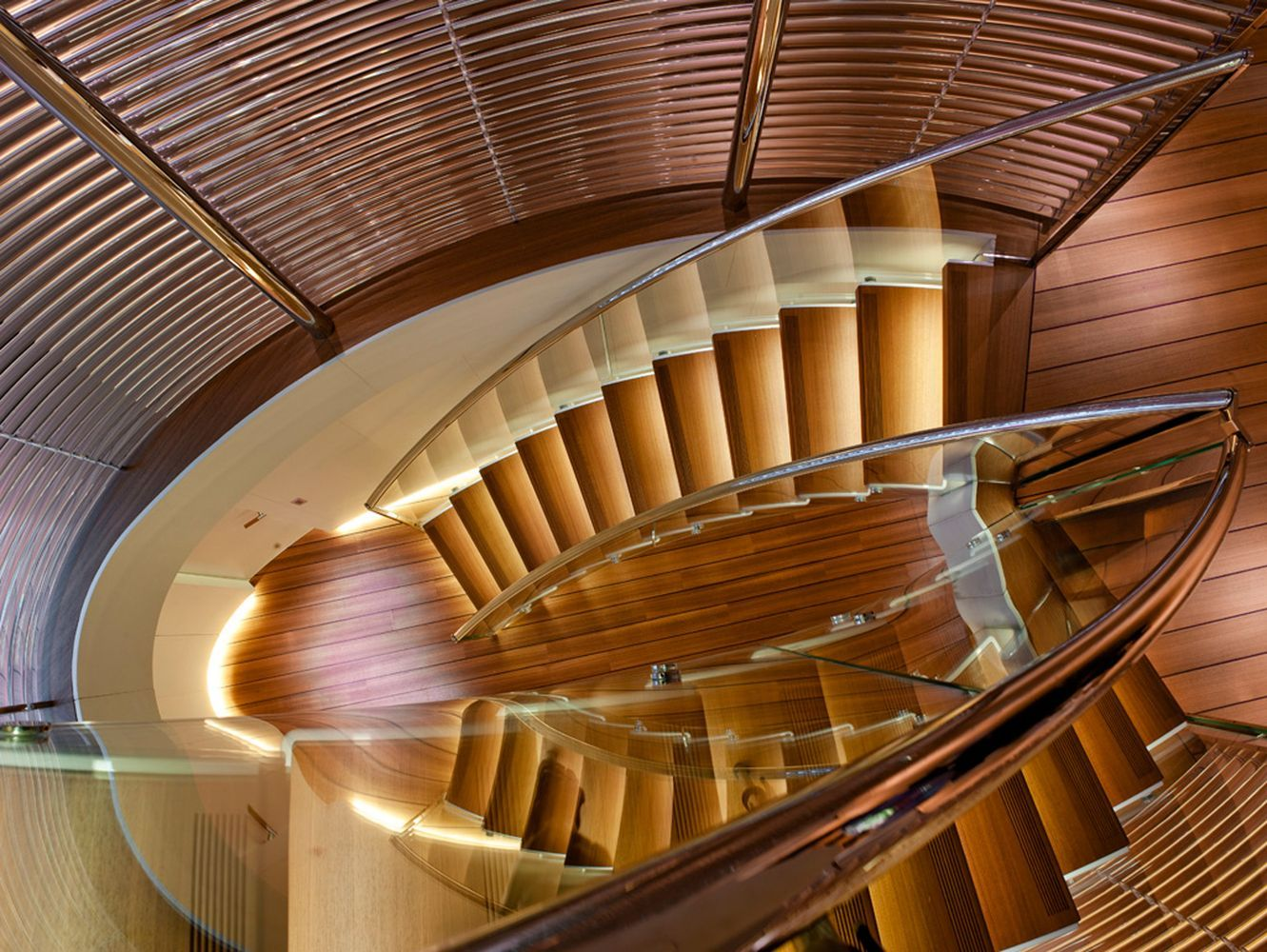 Panthalassa Yacht designed by Foster + Partners - stairs