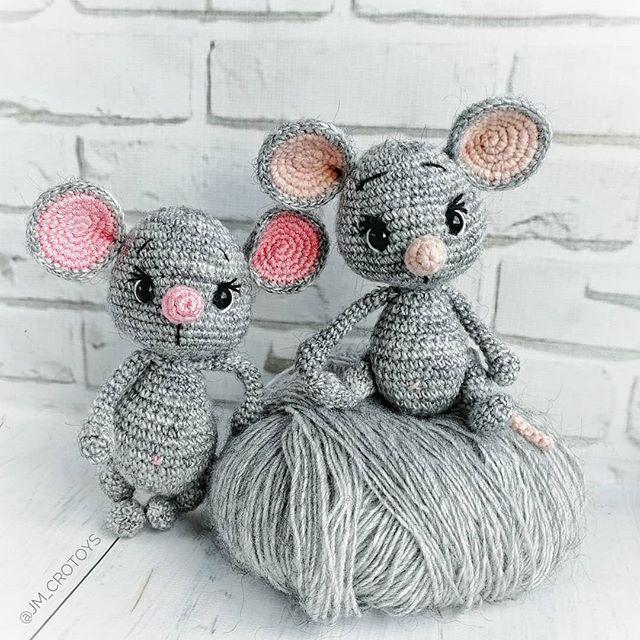 """УЮТНЫЕ ИГРУШКИ КРЮЧКОМ в Instagram: «Пряжа """"Туффи"""" от фирмы Камтекс. . Ох, какая же это классная пряжа для мышек! Да, это акрил, но именно в мышках он смотрится…»"""