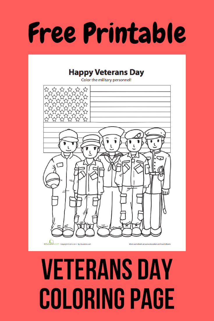 Veteran S Day Printable Coloring Page Veterans Day Coloring Page Free Veterans Day Veterans Day Activities [ 1024 x 819 Pixel ]