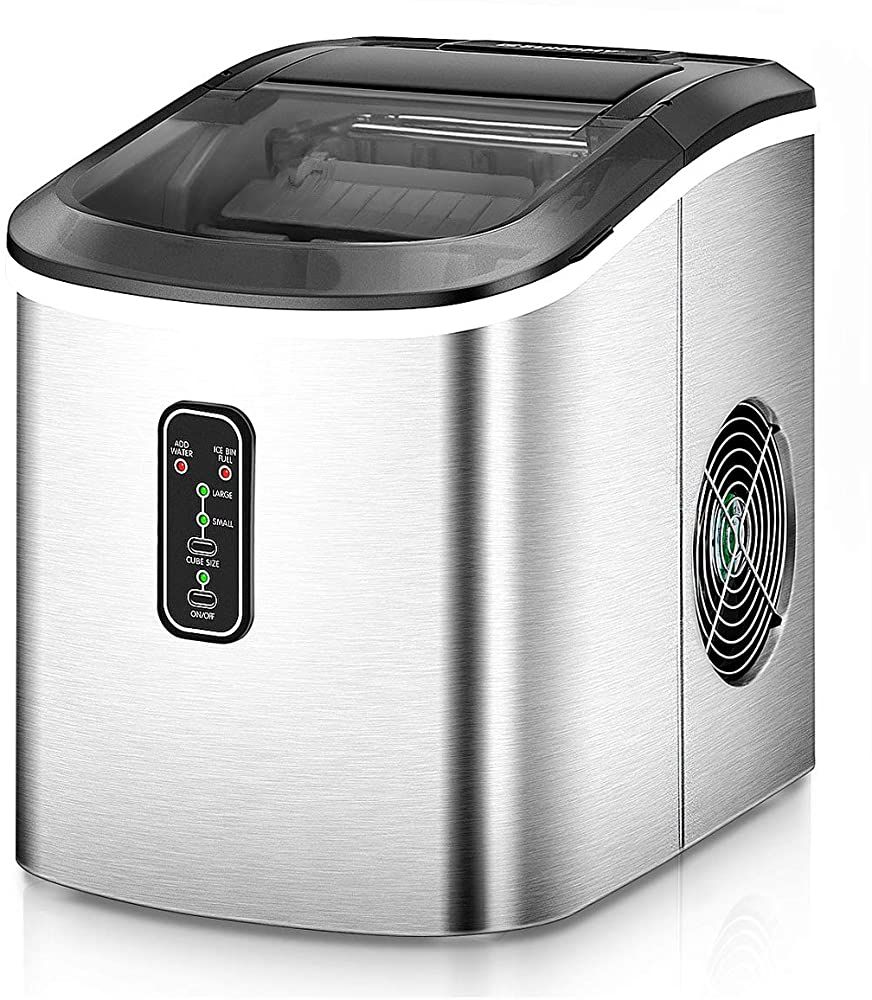 Euhomy ice maker machine countertop makes 26 lbs ice in 24
